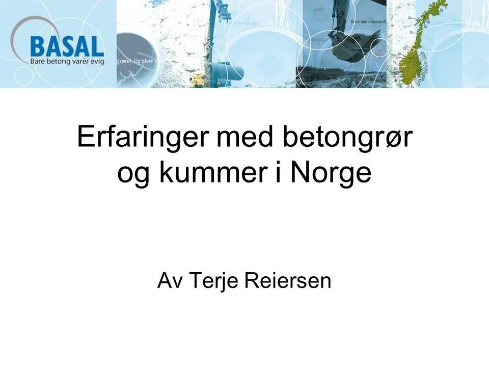 Erfaringer med betongrør og kummer i Norge