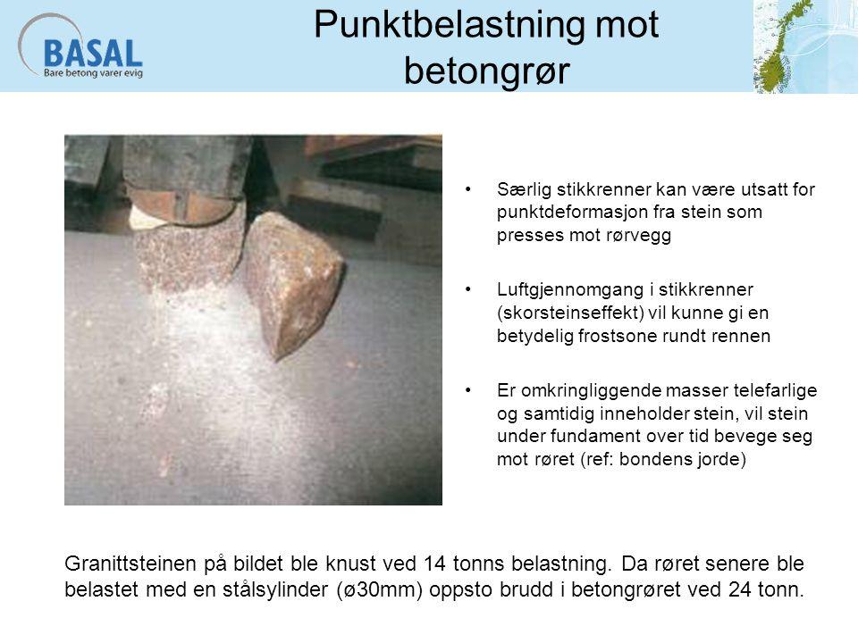 Punktbelastning mot betongrør