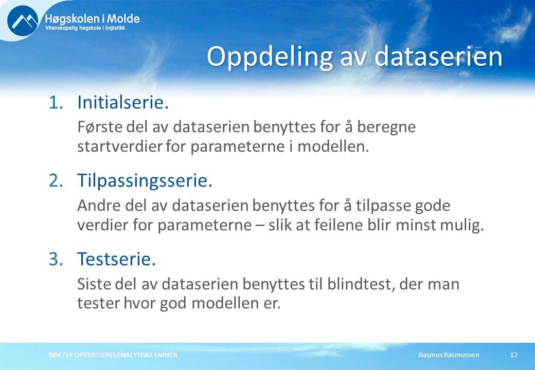 Oppdeling av dataserien