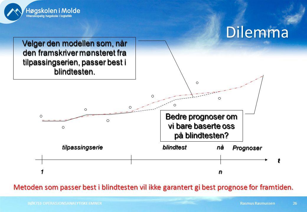 Bedre prognoser om vi bare baserte oss på blindtesten