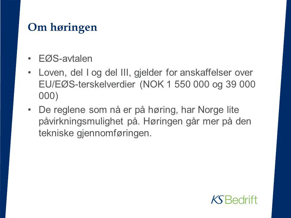 Om høringen EØS-avtalen