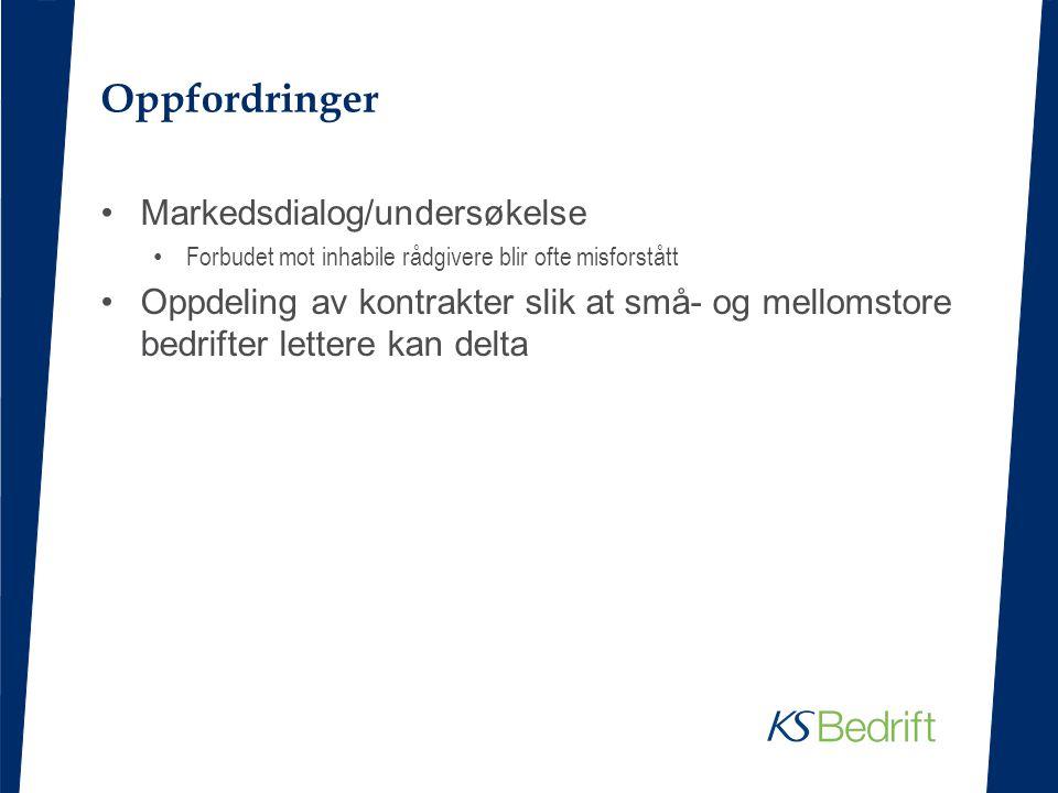 Oppfordringer Markedsdialog/undersøkelse