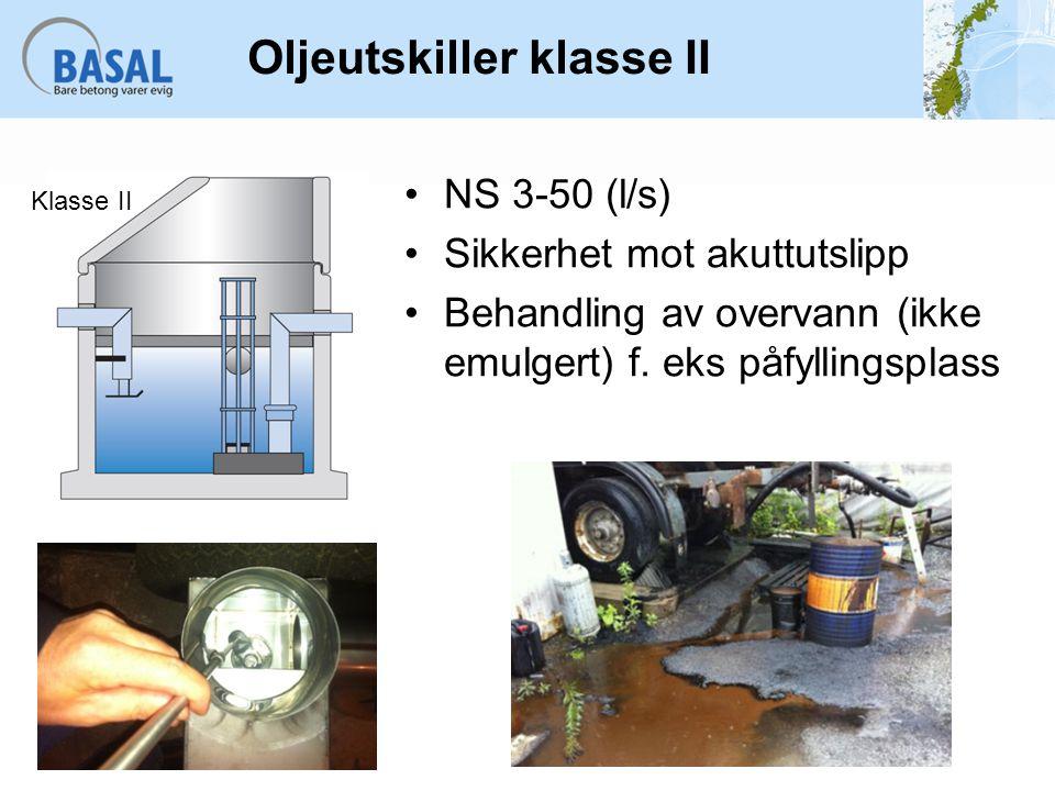 Oljeutskiller klasse II
