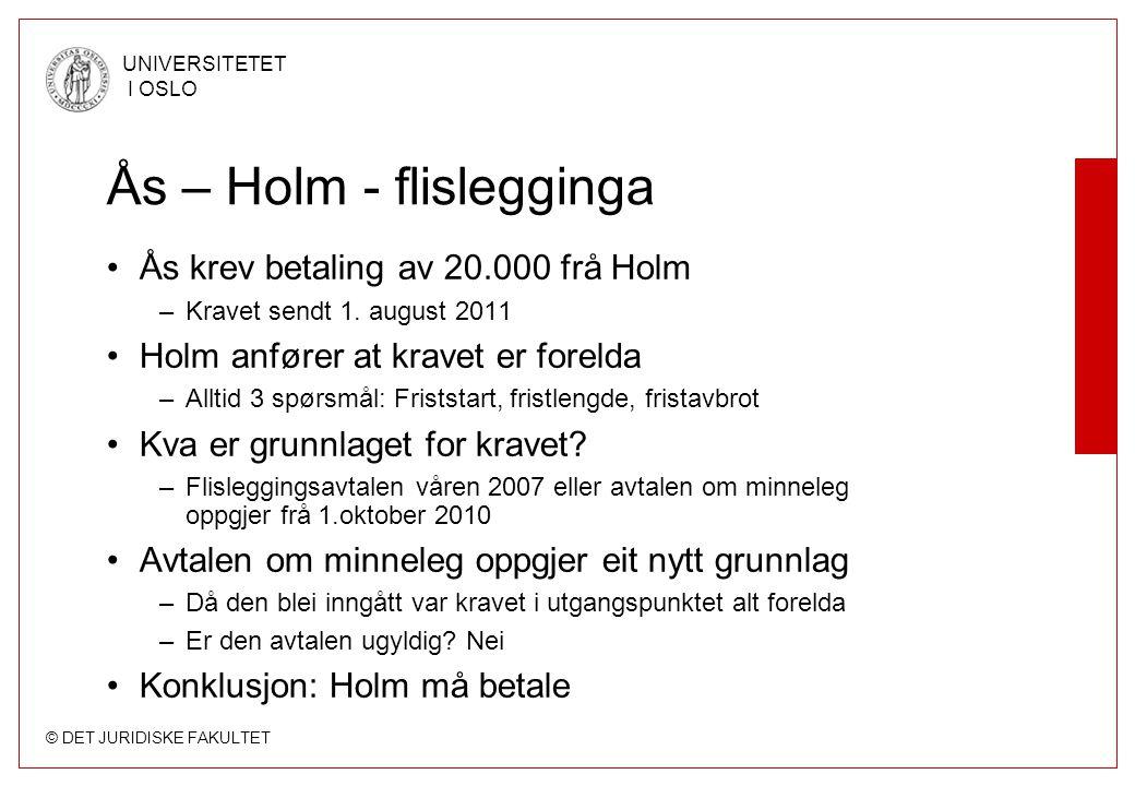 Ås – Holm - flislegginga
