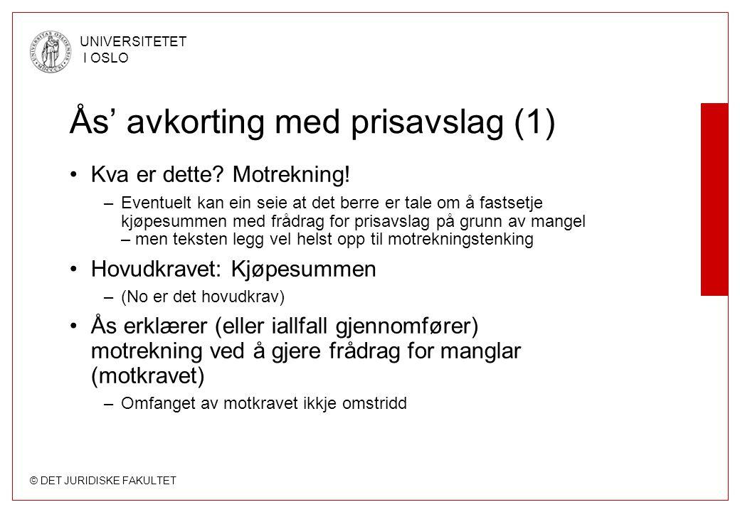 Ås' avkorting med prisavslag (1)