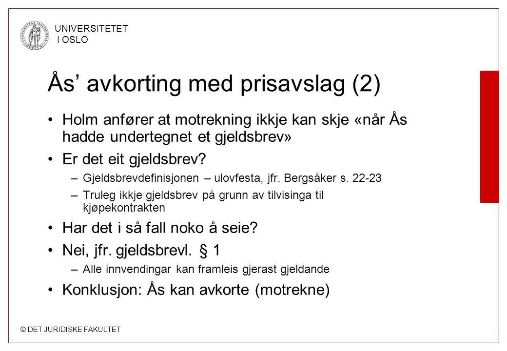 Ås' avkorting med prisavslag (2)