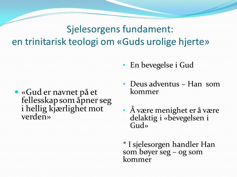Sjelesorgens fundament: en trinitarisk teologi om «Guds urolige hjerte»