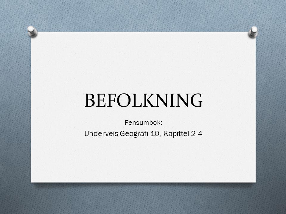 Pensumbok: Underveis Geografi 10, Kapittel 2-4