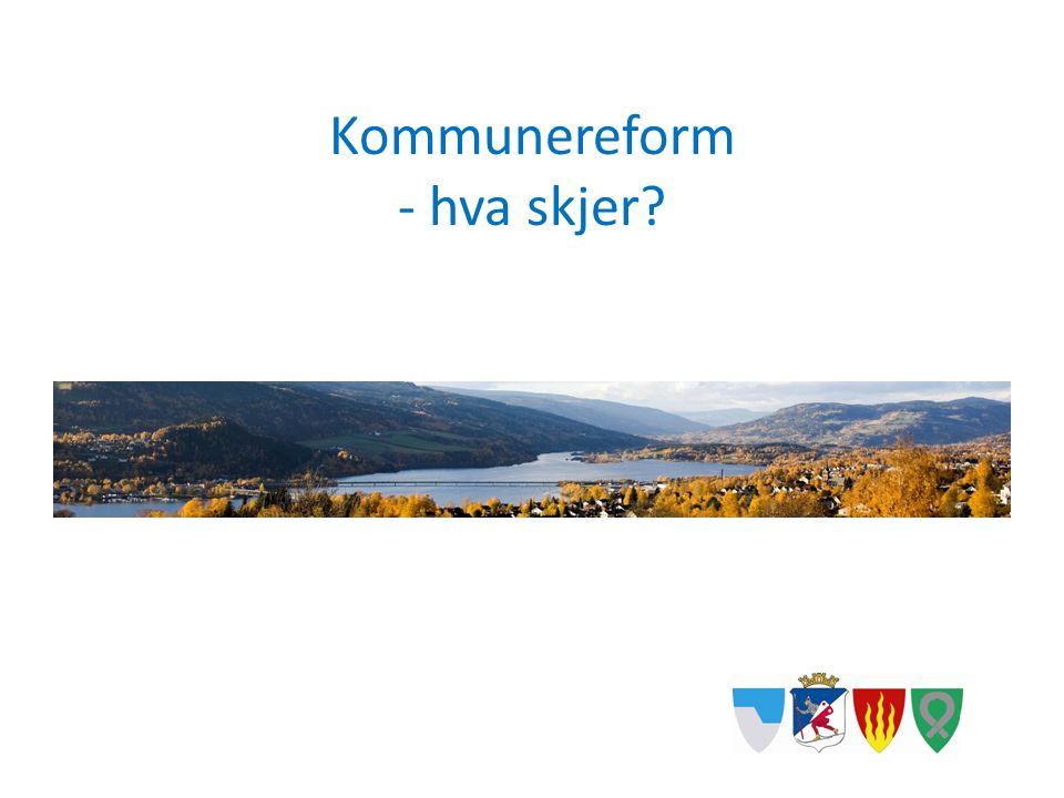 Kommunereform - hva skjer