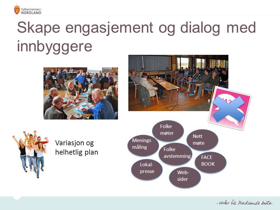Skape engasjement og dialog med innbyggere