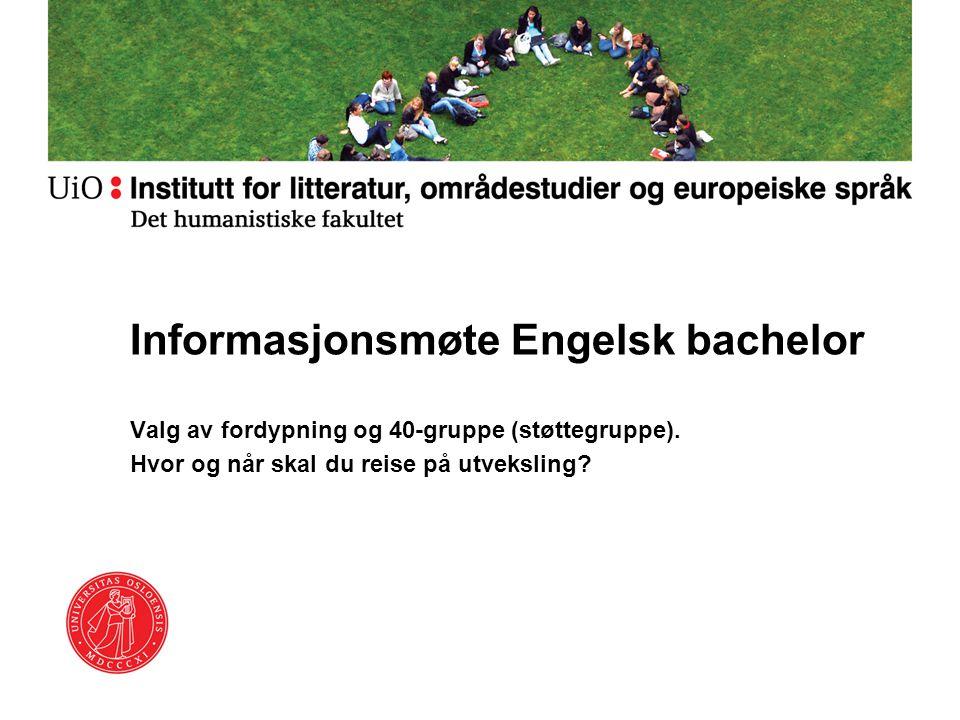 Informasjonsmøte Engelsk bachelor