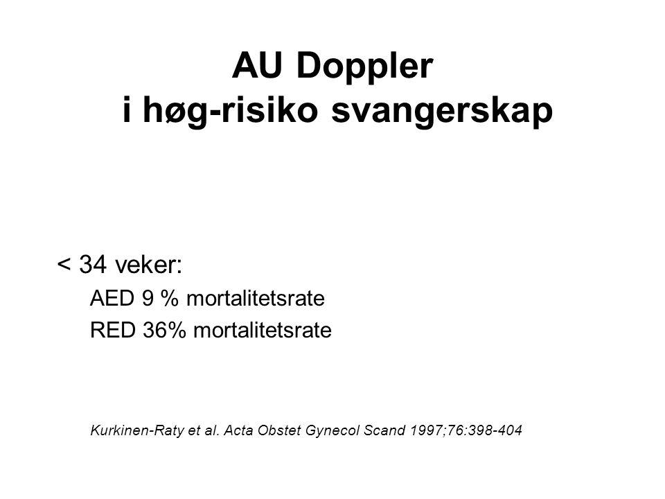 AU Doppler i høg-risiko svangerskap