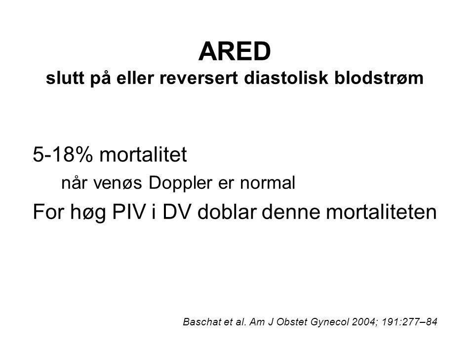 ARED slutt på eller reversert diastolisk blodstrøm