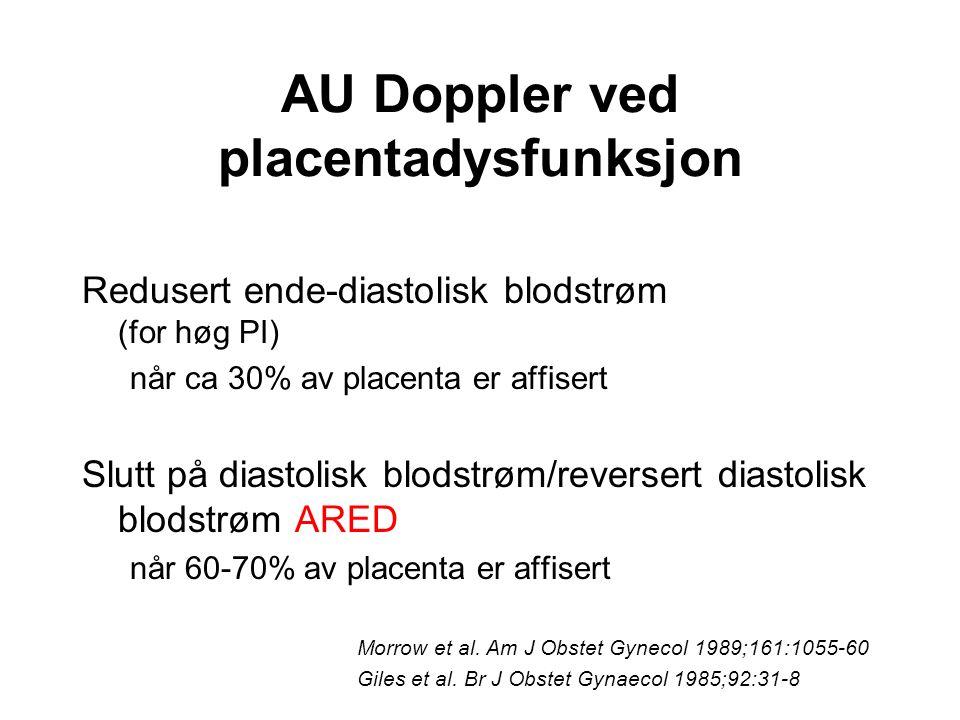 AU Doppler ved placentadysfunksjon