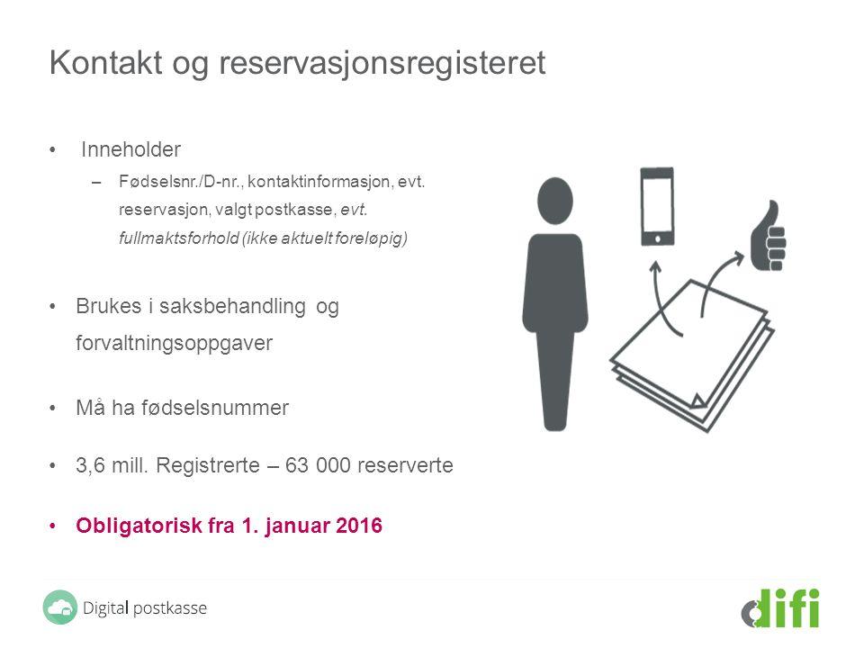Kontakt og reservasjonsregisteret