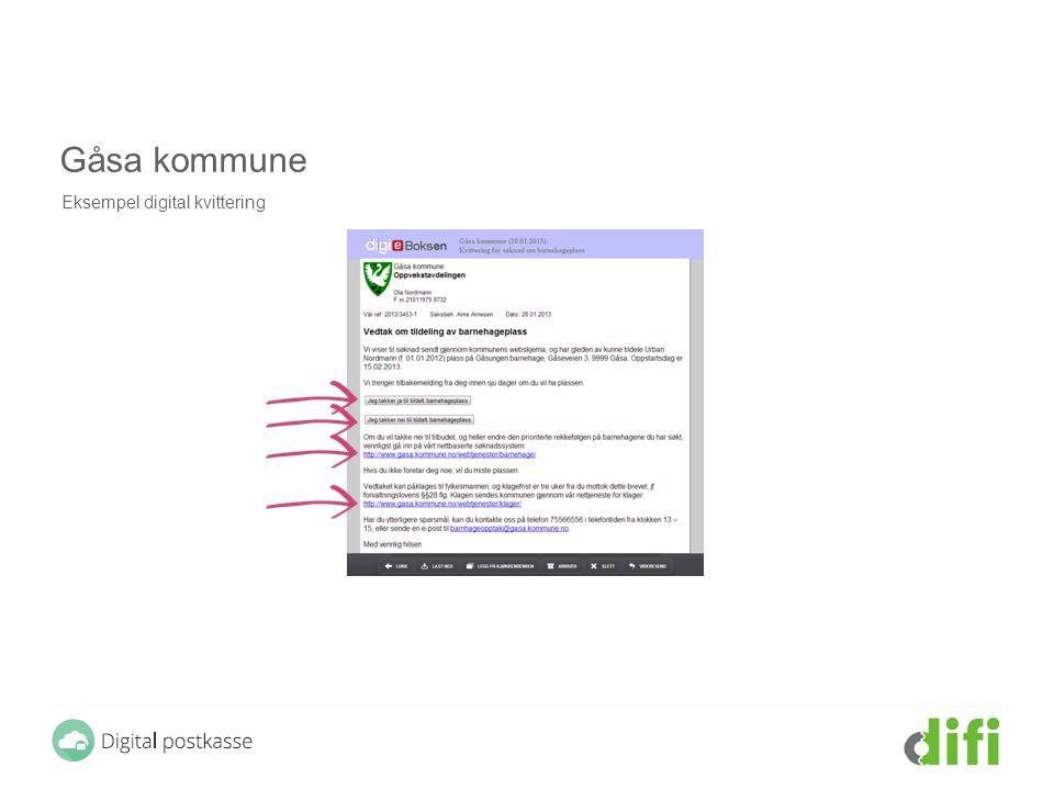 Gåsa kommune Eksempel digital kvittering