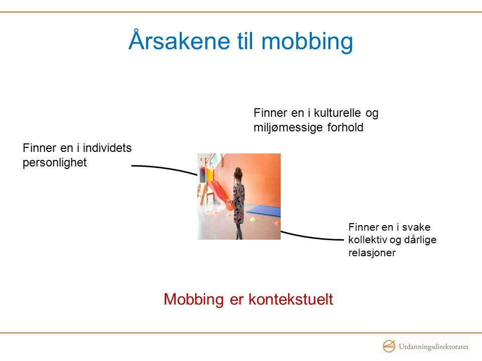 Mobbing er kontekstuelt