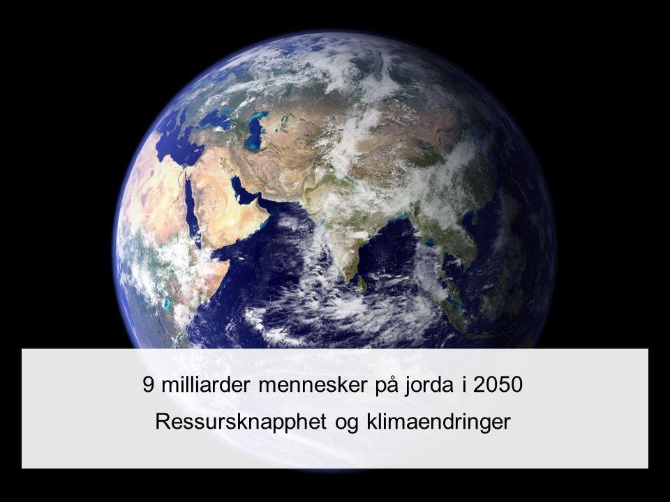 9 milliarder mennesker på jorda i 2050