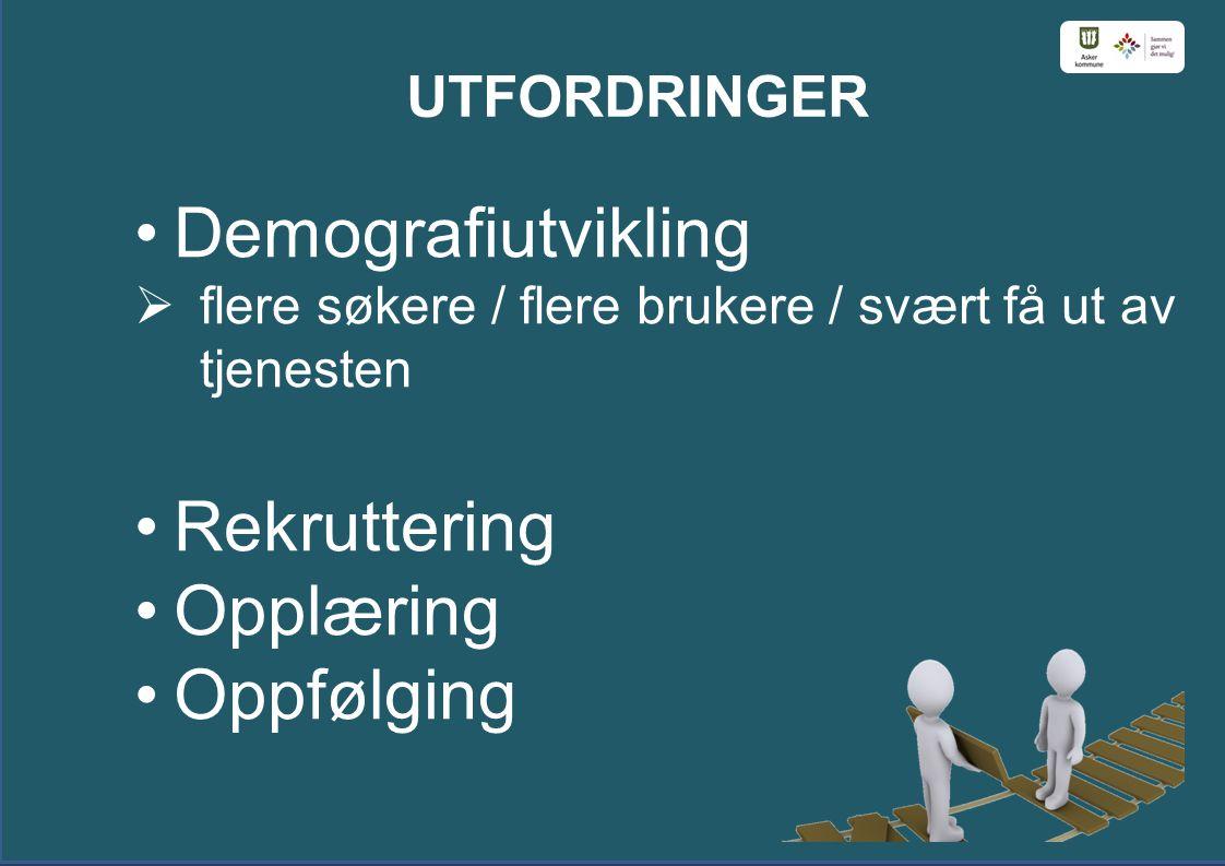 Demografiutvikling Rekruttering Opplæring Oppfølging UTFORDRINGER
