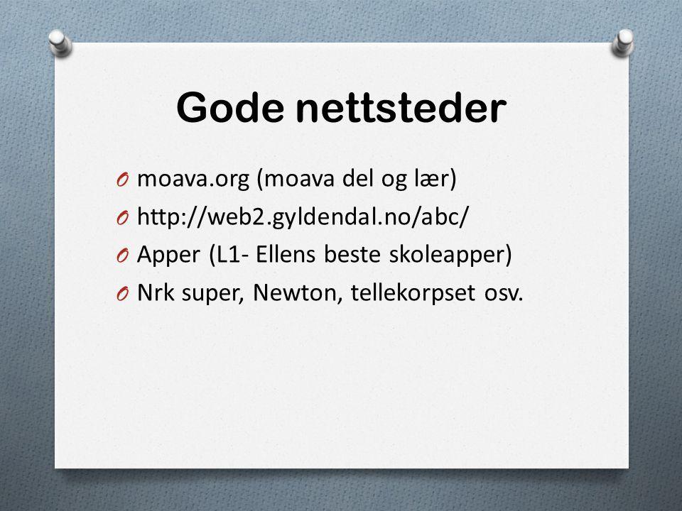 Gode nettsteder moava.org (moava del og lær)