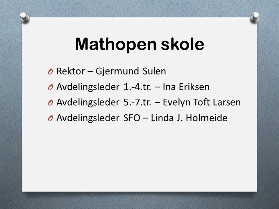 Mathopen skole Rektor – Gjermund Sulen