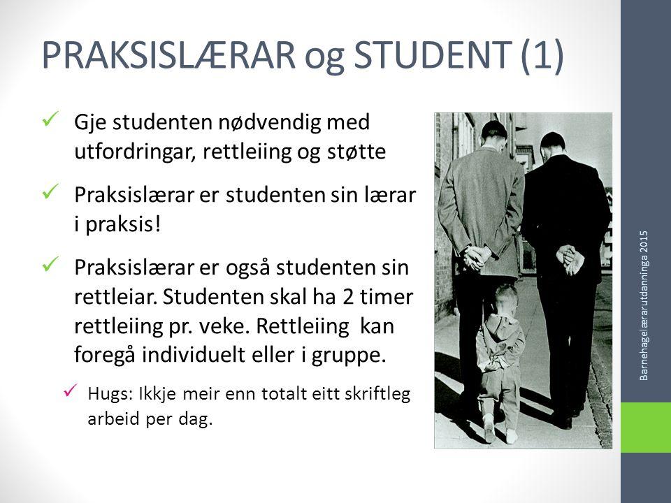 PRAKSISLÆRAR og STUDENT (1)