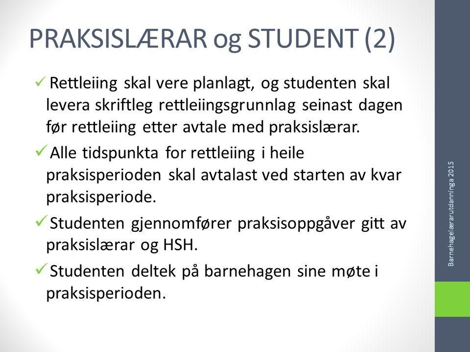 PRAKSISLÆRAR og STUDENT (2)
