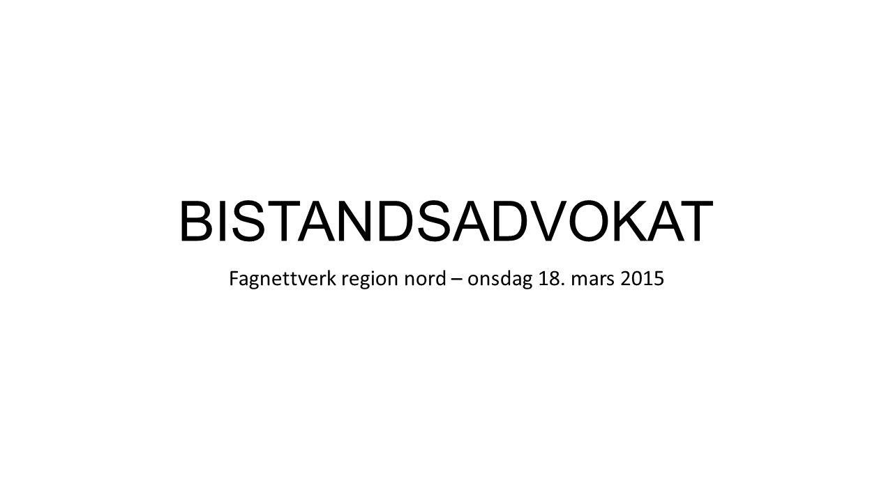 Fagnettverk region nord – onsdag 18. mars 2015