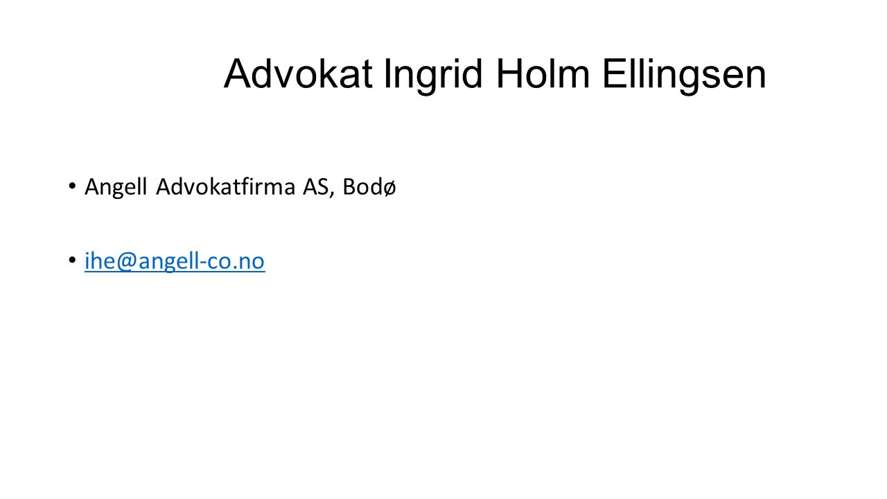 Advokat Ingrid Holm Ellingsen