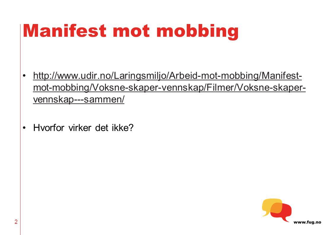 Manifest mot mobbing