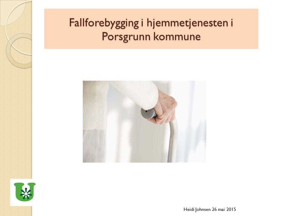 Fallforebygging i hjemmetjenesten i Porsgrunn kommune