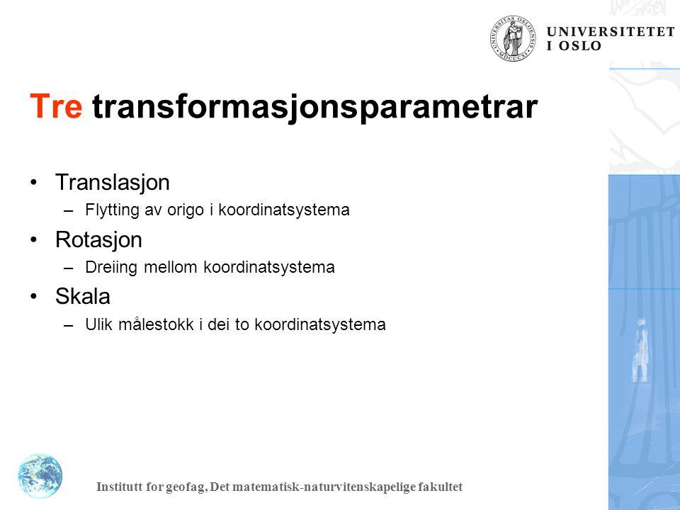 Tre transformasjonsparametrar