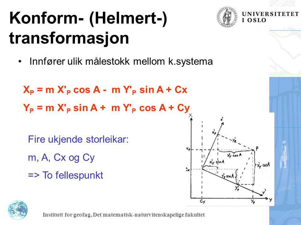 Konform- (Helmert-) transformasjon