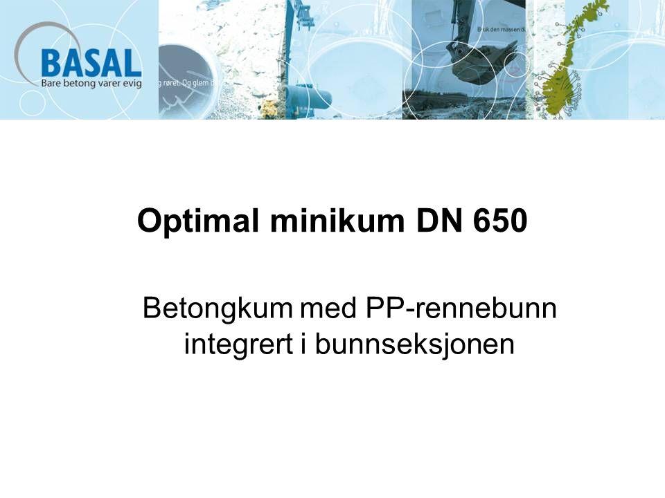 Betongkum med PP-rennebunn integrert i bunnseksjonen