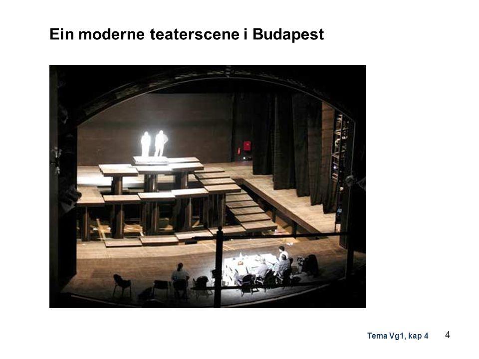 Ein moderne teaterscene i Budapest