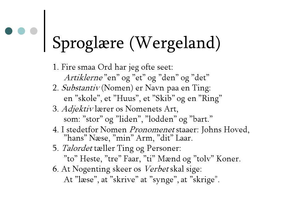 Sproglære (Wergeland)