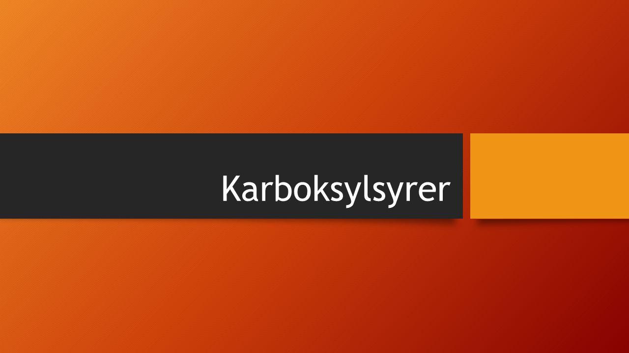 Karboksylsyrer