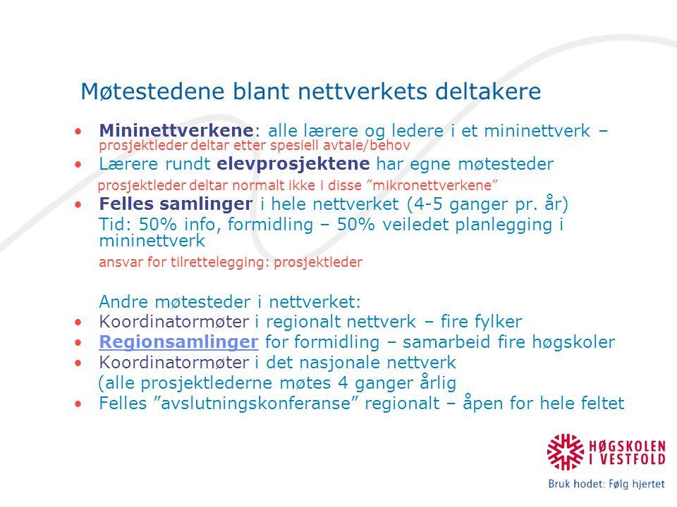 Møtestedene blant nettverkets deltakere