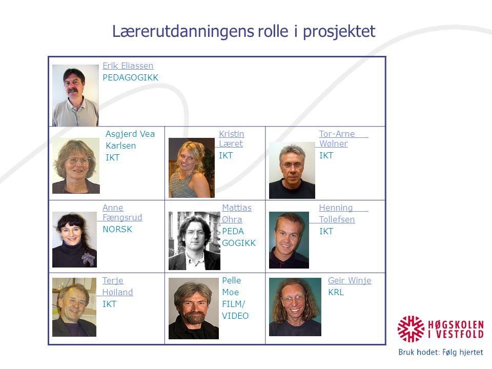 Lærerutdanningens rolle i prosjektet