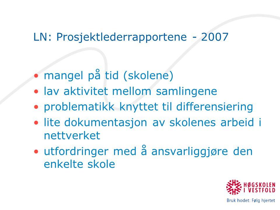 LN: Prosjektlederrapportene - 2007