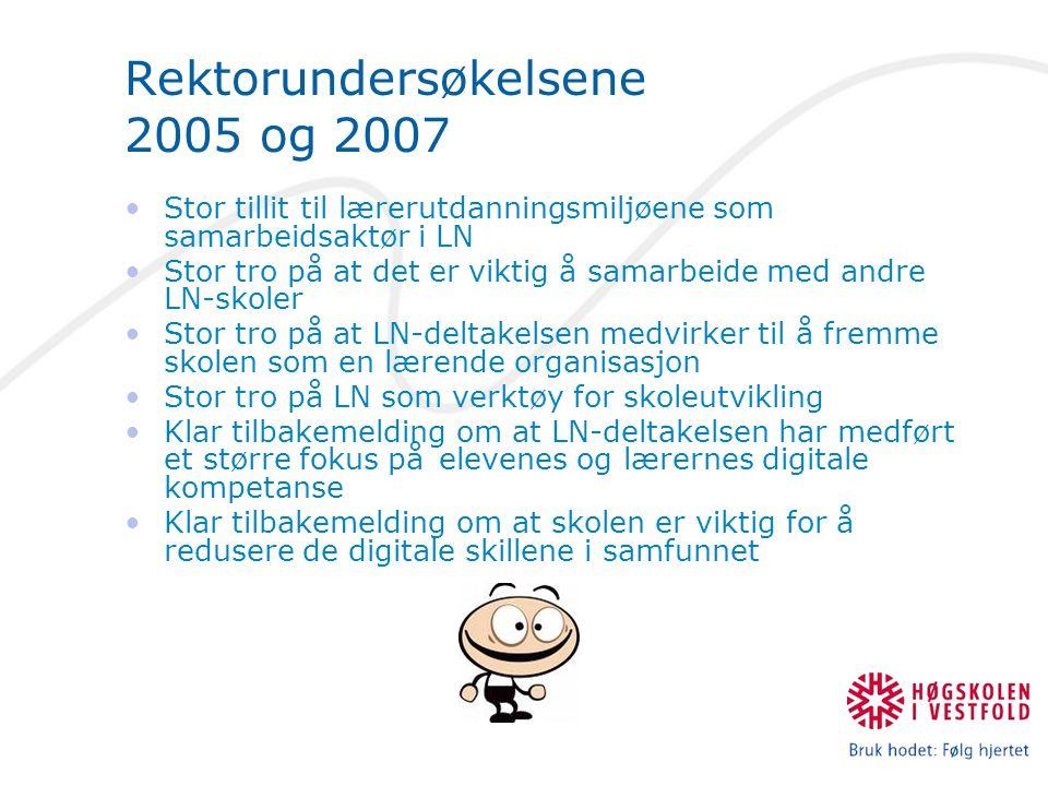 Rektorundersøkelsene 2005 og 2007