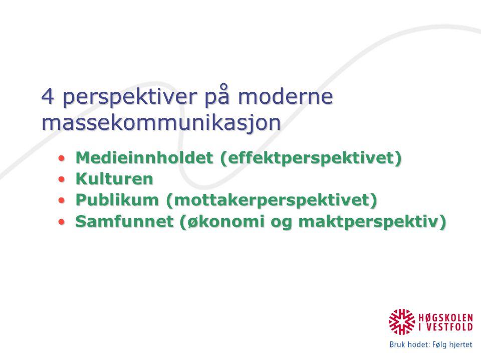4 perspektiver på moderne massekommunikasjon