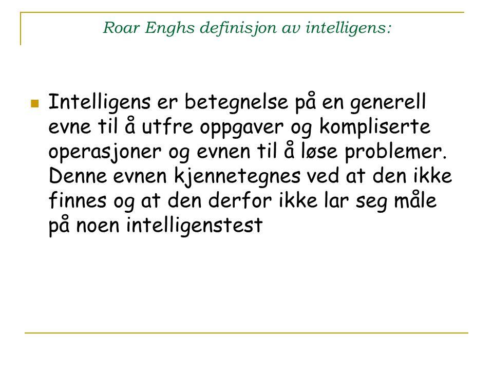 Roar Enghs definisjon av intelligens: