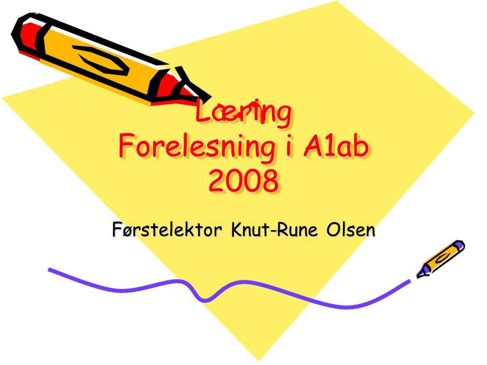 Læring Forelesning i A1ab 2008