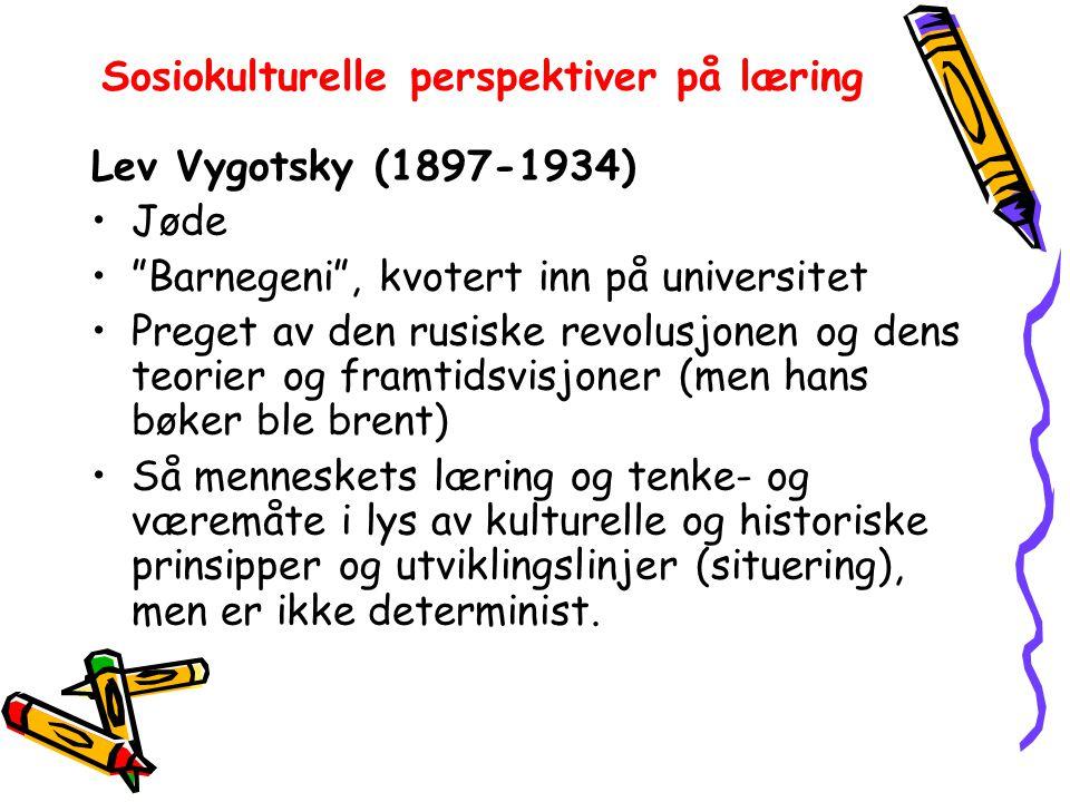 Sosiokulturelle perspektiver på læring