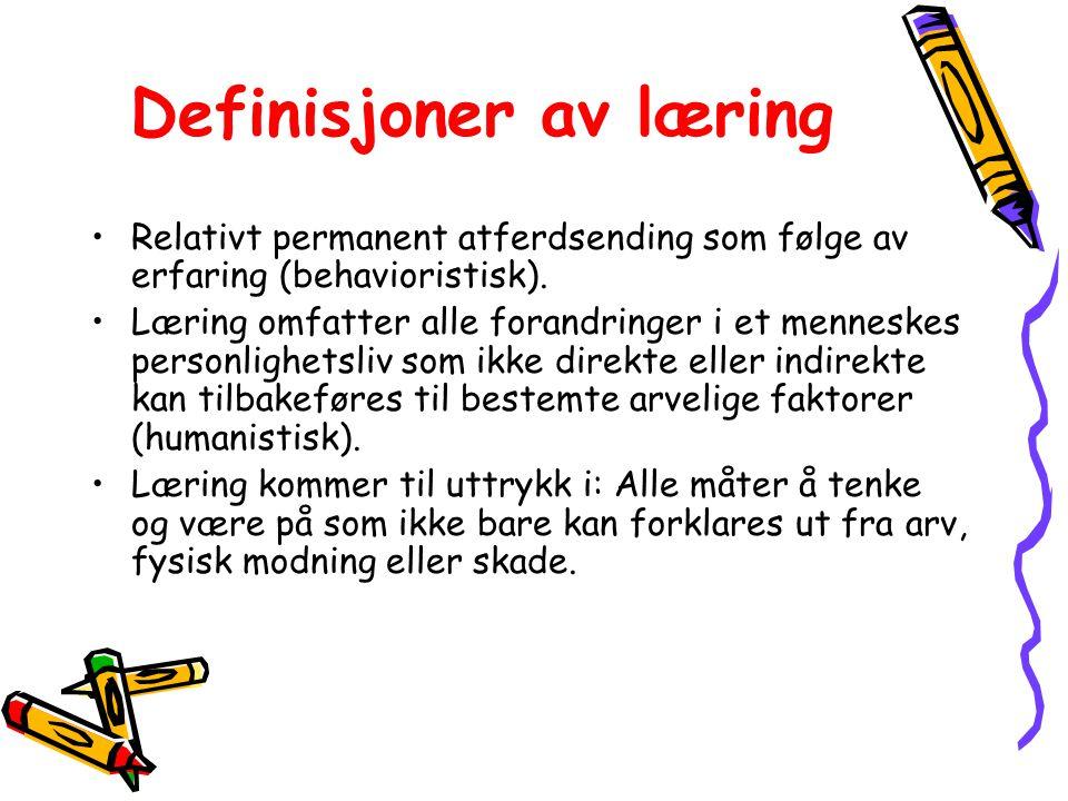 Definisjoner av læring