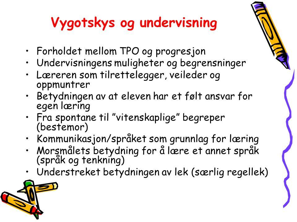 Vygotskys og undervisning