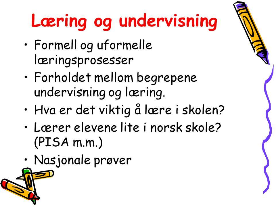 Læring og undervisning