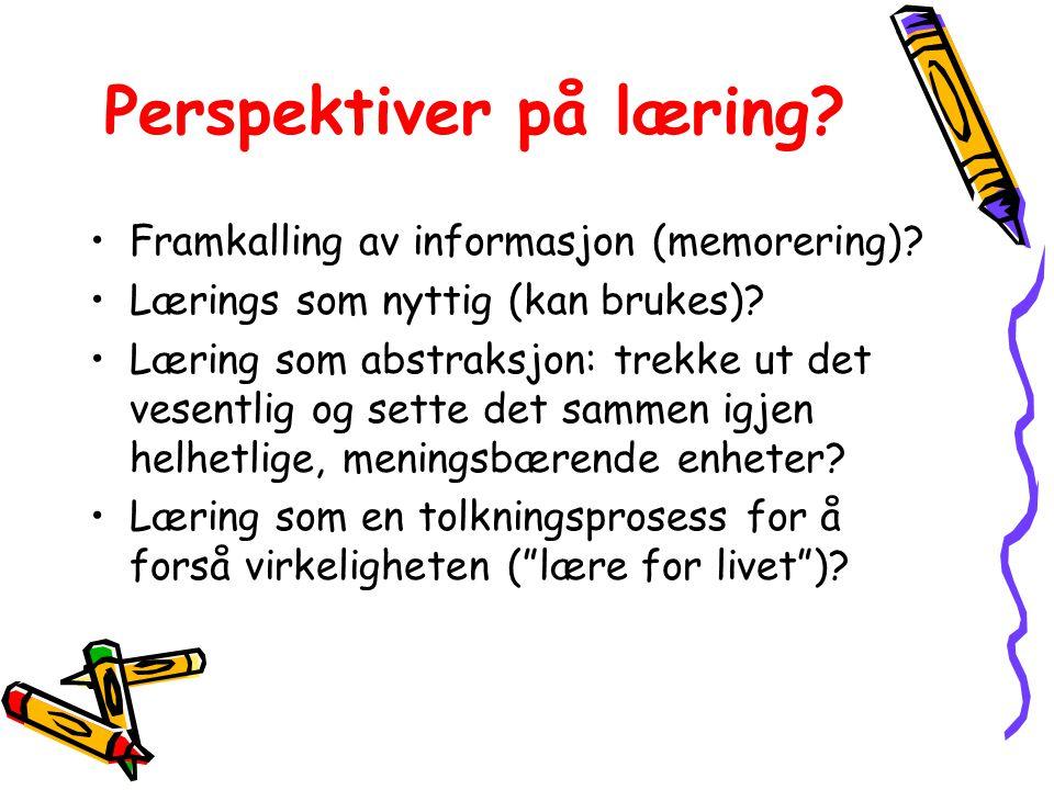 Perspektiver på læring