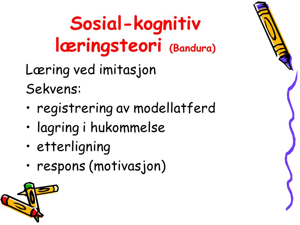Sosial-kognitiv læringsteori (Bandura)